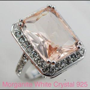 Morganite white crystal stone